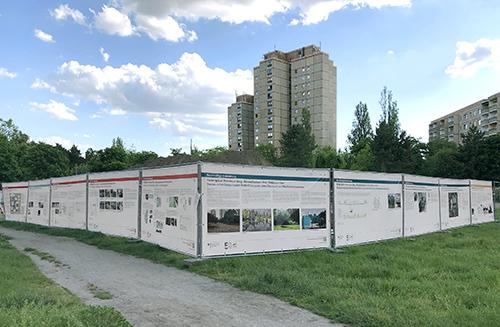 Bauzaunausstellung zu den bezirklichen Baumaßnahmen Ernst-Thälmann-Park